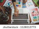 young creative artist of web... | Shutterstock . vector #1128213773