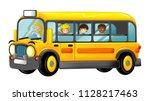 funny looking cartoon yellow... | Shutterstock . vector #1128217463