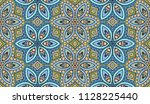 vector patchwork quilt pattern. ... | Shutterstock .eps vector #1128225440