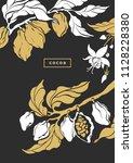vector template of cocoa tree ... | Shutterstock .eps vector #1128228380