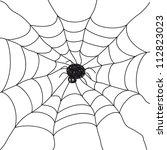spider. illustration on white... | Shutterstock .eps vector #112823023