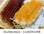 honeycomb full of honey   Shutterstock . vector #1128241358