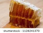 honeycomb full of honey   Shutterstock . vector #1128241370