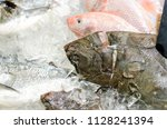 raw different fish for sale.   Shutterstock . vector #1128241394