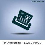 newspaper  press  news vector...   Shutterstock .eps vector #1128244970
