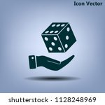 cubes for the game vector icon. | Shutterstock .eps vector #1128248969