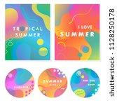 unique artistic summer cards... | Shutterstock .eps vector #1128250178
