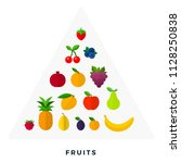 pyramid of fruit and berries... | Shutterstock .eps vector #1128250838