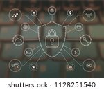 digital security background.... | Shutterstock . vector #1128251540