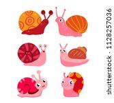 snail character vector design | Shutterstock .eps vector #1128257036