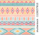 embroidered ethnic seamless...   Shutterstock .eps vector #1128257813