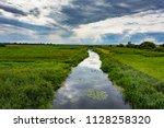 water channel in the field | Shutterstock . vector #1128258320
