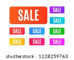 set of sale tags. colorful... | Shutterstock . vector #1128259763