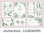 wedding card templates set with ... | Shutterstock .eps vector #1128260390