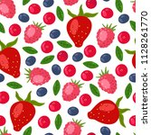 bright summer fruits seamless... | Shutterstock .eps vector #1128261770