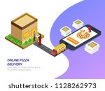 order food online from app by... | Shutterstock .eps vector #1128262973