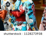 young girl wearing japanese...   Shutterstock . vector #1128273938