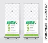 roll up banner design template  ... | Shutterstock .eps vector #1128285164