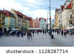 wroclaw poland   2 july 2018 ... | Shutterstock . vector #1128287714