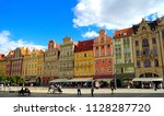 wroclaw poland   2 july 2018 ...   Shutterstock . vector #1128287720