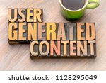 user generated content    word... | Shutterstock . vector #1128295049