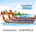 vector design of boat race... | Shutterstock .eps vector #1128298313