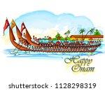 vector design of boat race... | Shutterstock .eps vector #1128298319
