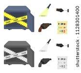 the detective flashlight... | Shutterstock .eps vector #1128301400