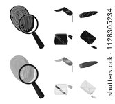 a fingerprint study  a folding... | Shutterstock .eps vector #1128305234