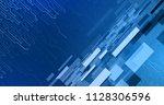 dark blue abstract technology...   Shutterstock .eps vector #1128306596