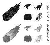 a falling meteorite... | Shutterstock .eps vector #1128307460