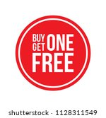 red shop vector sign for a buy... | Shutterstock .eps vector #1128311549