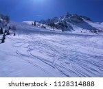 white snow mountain panorama...   Shutterstock . vector #1128314888