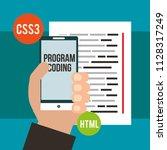 program coding website   Shutterstock .eps vector #1128317249