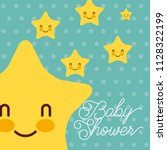 cute kawaii stars dots... | Shutterstock .eps vector #1128322199