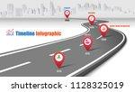 business road map timeline... | Shutterstock .eps vector #1128325019