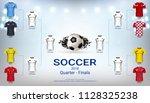 quarter final wall chart of... | Shutterstock .eps vector #1128325238