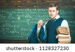 clear explanation. teacher... | Shutterstock . vector #1128327230
