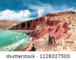 the famous red beach in ...   Shutterstock . vector #1128327503