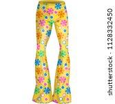 yellow flower pants | Shutterstock .eps vector #1128332450