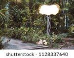 blank angular information... | Shutterstock . vector #1128337640
