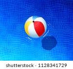 top view summertime... | Shutterstock . vector #1128341729