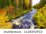 Autumn Forest River Landscape....