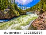 forest wild river stream... | Shutterstock . vector #1128352919