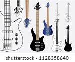 bass guitars vector graphic.... | Shutterstock .eps vector #1128358640