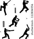 cricket players collection... | Shutterstock .eps vector #112836556