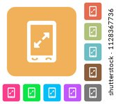 mobile pinch open gesture flat... | Shutterstock .eps vector #1128367736