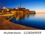 rovinj old town at night in... | Shutterstock . vector #1128369059