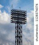 floodlight pylons in a football ... | Shutterstock . vector #1128376076