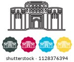 historical icon pune city  ... | Shutterstock .eps vector #1128376394